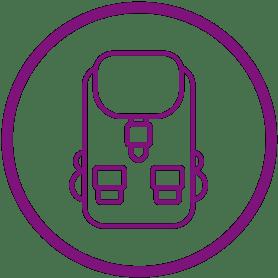 Nieuwsbrief paarse rugzak